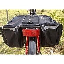 Yosoo Waterproof Bicycle Seat Bag, Multifunctional Cycling Double Sides Pannier Bag Rack Back Rear Bicycle Tail Bag Tube Frame Bike Bag Carrier Trunk (black)