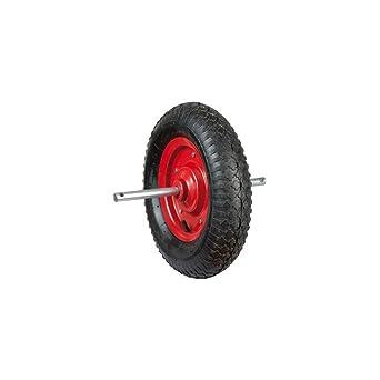 hexoutils rueda hinchable (diámetro 380 mm para carretilla ...