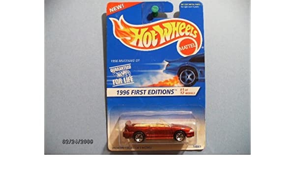 Amazon Com Hot Wheels 1996 First Edition Mustang Gt With 5 Spokes