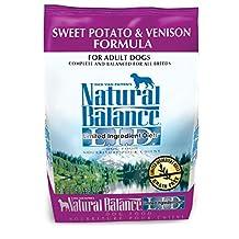 Dick Van Patten's Natural Balance Lid Sweet Potato and Venison Dry Dog Food, 4.5-Pound Bag