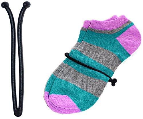 zuzu New Innovative Sock Lasso Sock Clips Locks (10 Pcs) Keep Socks Paired in Washer Dryer Laundry (Black)