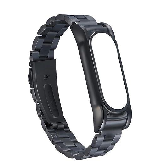Pulseras metal Xiaomi Miband 2,Pulsera de acero inoxidable Correa de reloj metal ultrafina para Xiaomi Mi Band 2 Barato por VENMO (negro): Amazon.es: ...