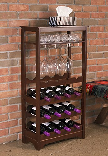 Merry products 16 bottle wine rack espresso what about for 16 bottle wine cabinet with glass door espresso