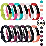 (US) OUWEGAGA Fitbit Alta HR and Alta Bands Sprot,Super Valuable Packs Replacement for Fitbit Alta Fitness Wristbands Straps Accessory for Women Men Small 12-Packs