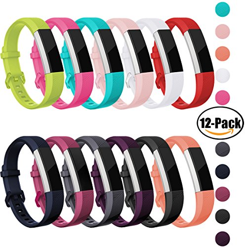 OUWEGAGA Fitbit Alta HR and Alta Bands Sprot,Super Valuable Packs Replacement for Fitbit Alta Fitness Wristbands Straps Accessory for Women Men Small 12-Packs