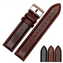 SONGDU Unisex Watch Strap Calfskin Leather Watch Band Suitable For DW Watches (20mm,brown)