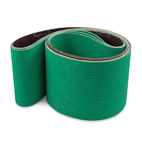 (4 X 36 Inch 36 Grit Metal Grinding Ceramic Sanding Belts, Extra Long Life, 3 Pack)