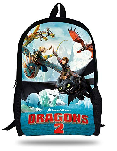 Amazon.com: 16-inch Mochila Infantil How to Train Your Dragon Backpack Children School Bags Boys Hiccup Toothless Kids: Kitchen & Dining