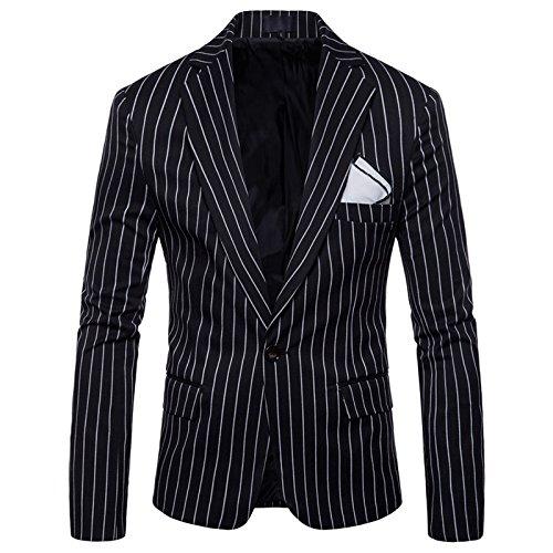 Black Men's amp;blazers Thin Jacket Xxxl Stripe Dress Single Casual blazers Size Coat Suit suits Leisure M Yhnsxz 4xl Button Fashion Blazer men's Boutique Suit 6BqFgwZ