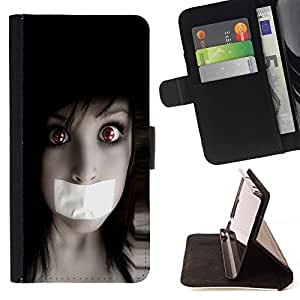 BETTY - FOR Samsung Galaxy S3 Mini I8190Samsung Galaxy S3 Mini I8190 - Anime Goth Girl - Style PU Leather Case Wallet Flip Stand Flap Closure Cover