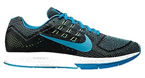 Nike MenS Air Zoom Structure 18 Running Shoes, Blue Lagoon Clearwater Black Flash Lime 401, 42 Unknown EU/7.5 Unknown UK