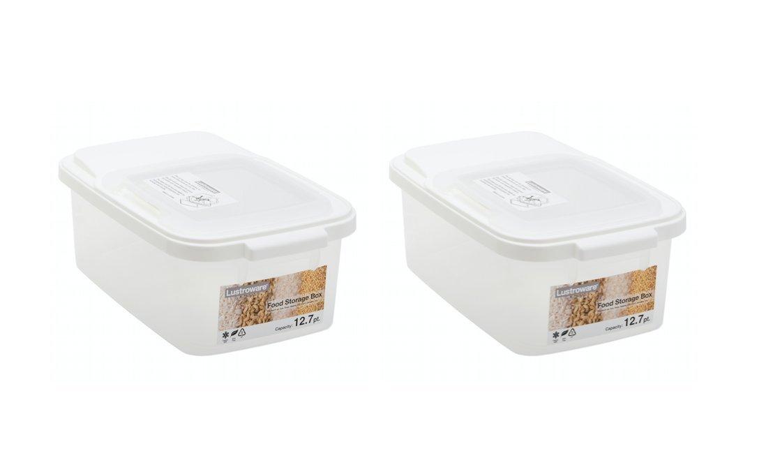 Storage Box with All-Around Lid, Set of 2, BPA Free …
