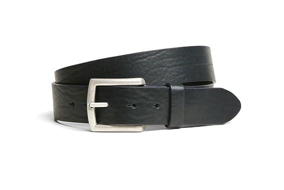 color blue VaModa Leather belt model Gump without buckle