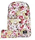 Disney The Beauty and The Beast Floral 17'' Backpack and Wallet Set (Multi)