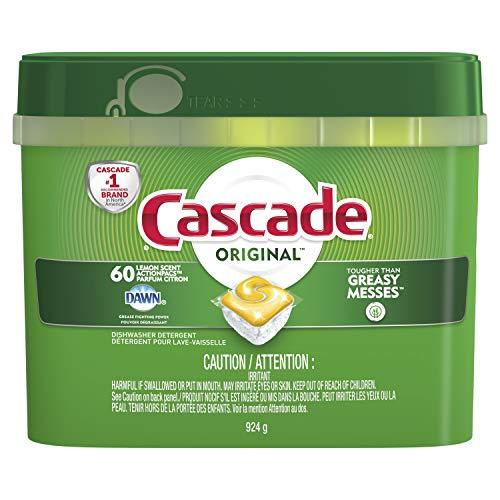 Cascade Complete Actionpacs Dishwasher Detergent, Lemon Scent, 60 Count