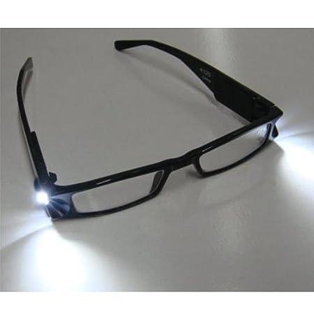 c8dfa47c015 Tping Universal Black Illuminated Led Reading Glasses Rectangular  Presbyopic Glasses Plastic Frame with Led Light Lamp