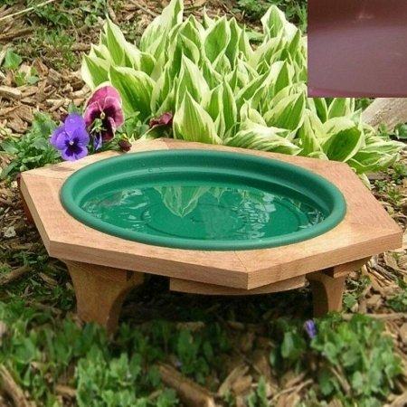 Looker Bb08 Mini Garden Outdoor Bird Bath - Clay by Looker Inc