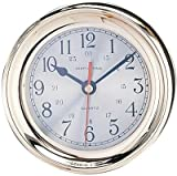 4.5″ Polished Brass Quartz Captain's Clock For Sale