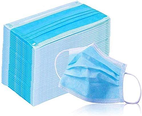 PHILOGOD Máscaras Desechables Ear Loop Médico De La Cara Máscara Quirúrgica Traspirante y comodo 3 Capas (50 paquetes)