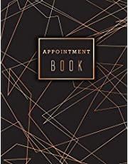 Appointment Book: Undated Daily Hourly Planner Appointment Calendar with Time 15 Minute Increments 8AM to 9PM Weekly Monday to Friday 6 Column Notebook for Salons Hairdressers Spa Beauty Parlours and Business Time Management