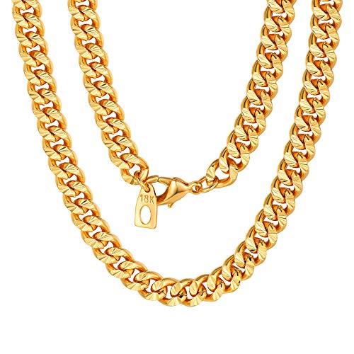 Dubai New Gold Chain Design 32 inch Cuban Link Curb Chain