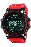 Mens Bluetooth Smart Sports Watch Fashion Big Face Digita Watches Red