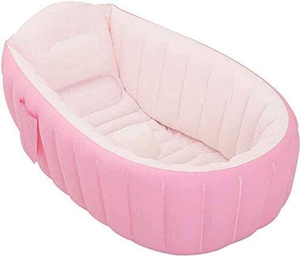 Geng Piscinas hinchables Piscina, Piscina De Juegos De Recreación Acuática para Niños, Bañera Inflable para Bebés Piscina para Bebés, Patio Trasero Verano (Color : Pink)