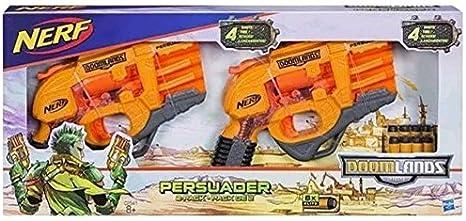 Nerf Doomlands 2169 Persuader Blaster 2 Pack con 8 Dardos Elite: Amazon.es: Juguetes y juegos