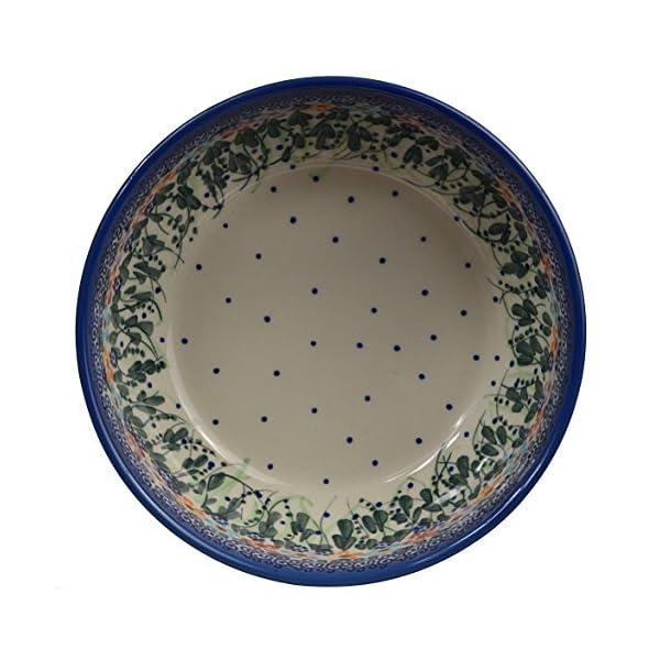 Traditional Polish Pottery, Handcrafted Ceramic Salad Bowl (900ml), Boleslawiec Style Pattern, d.18cm, M.703.Daisy