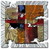 "All My Walls ABS00060 21"" x 21"" ""Orange Radiant Relic (Med)"" Metal Wall Art by Ash Carl"