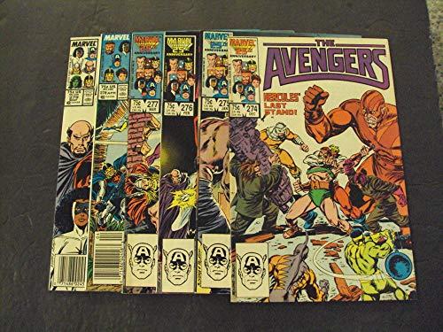 6 Iss Avengers #274-279 Copper Age Marvel Comics