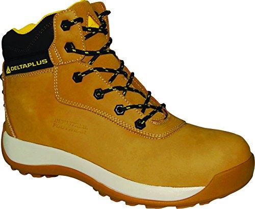 Delta Plus Chaussures–Chaussures montantes croûte de cuir nubuck Saga S3SRC beige taille 40