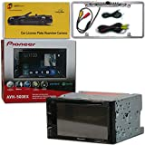Pioneer Double DIN 2DIN AVH-500EX 6.2 Touchscreen DVD MP3 CD Stereo Built-in Bluetooth & AppRadio Mode with DiscountCentralOnline FL09CH Full License Plate Night Vision Waterproof Back-up Camera