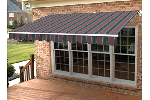 Taylor Made Retractable Awning 18'W x 10'L, Right Manual, Sunbrella Plum Fancy