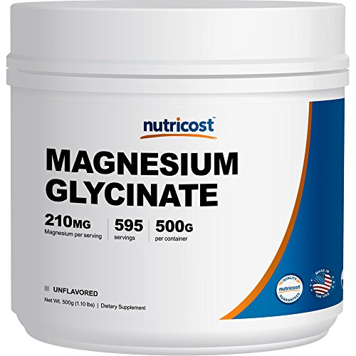 Nutricost Magnesium Glycinate Powder (500 Grams) (Unflavored)