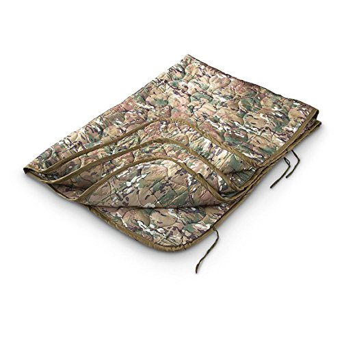 Military Style Wet Weather Poncho Liner Blanket - Woobie (Multicam OCP) ()