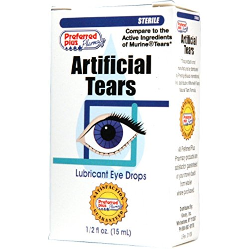 Artificial Tears Lubricant Eye Drops 15 ml (Pack of 12)