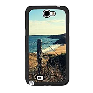 Pretty Scenery Nature Landscape Design Samsung Galaxy Note 2 Artisitc Natural Graphics Print Hard Plastic Cell Phone Case Cover (ocean beach)