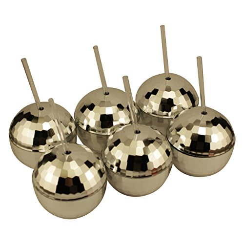 Six Disco Ball Cups - Set of - Disco Glasses Ball