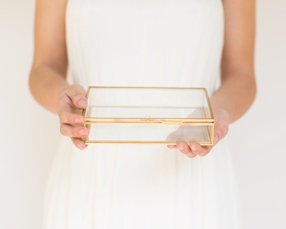 The Queen of Crowns Glass Photo Box, Proof Box, Glass Shadow Box, Gold Glass Box (4x6) by The Queen of Crowns (Image #5)