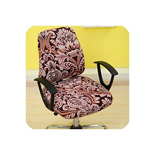 2pcs/Set Universal Elastic Spandex Fabric Split Chair Back Cover+Seat Cover Anti Dirty Office Computer Chair Cover Stretch Case,2,Universal