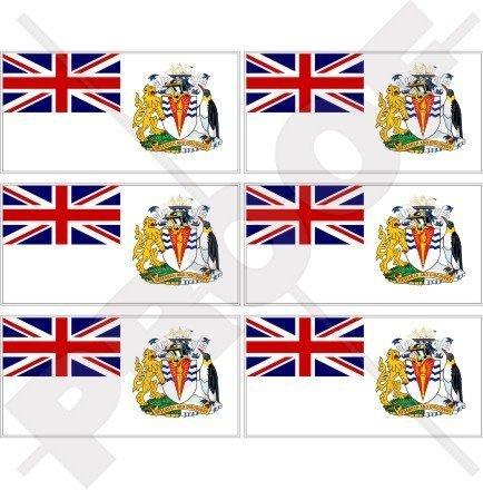 "BRITISH ANTARCTIC TERRITORY Flag UK 40mm (1,6"") Mobile, Cell Phone Vinyl Mini Stickers, Decals x6"