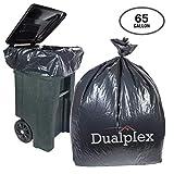 65 gallon drum liners - Dualplex 65 Gallon Black Trash Bags 1.5 Mill 50 Bags per Case 50