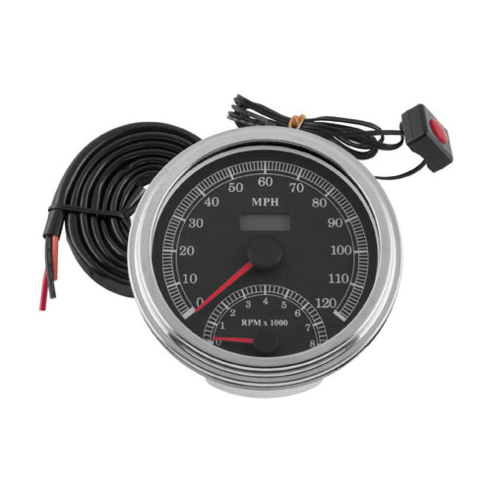 85 HARLEY FXEF: Biker's Choice Cable Driven Speedo & Tach Combo Biker' s Choice 4333394181