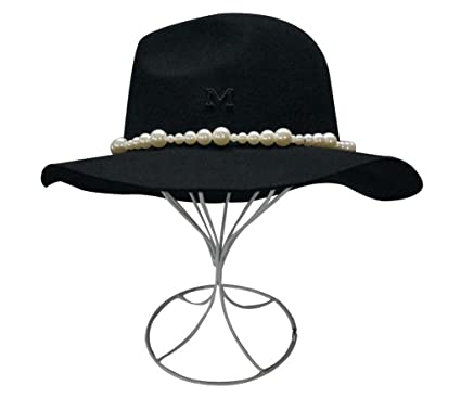 d73fa6614ed Image Unavailable. Image not available for. Color  Women s 100% Wool Felt  Hat Ladies Top hat Jazz Cap Cowboy Hat Fedora ...
