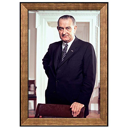 Portrait of Lyndon B Johnson (36th President of the United States) American Presidents Series Framed Art Print