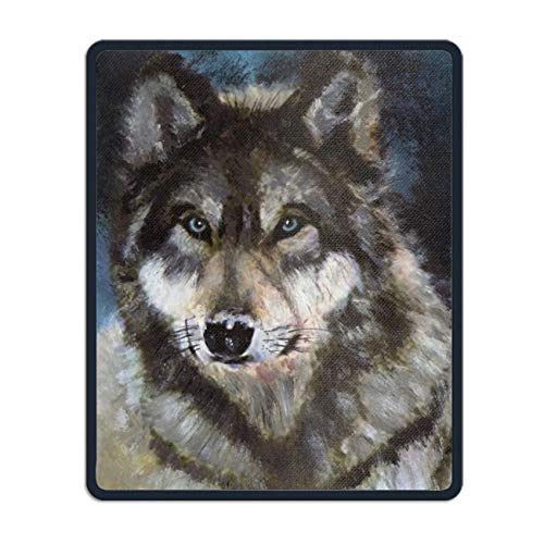 King Wolf Rubber Mouse Pad Desktop Anti Slip Computer Mouse Mat 8.7 × -