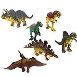 Tinksky 6pcs Jurassic Park Dinosaurs Tyrannosaurus Stegosaurus Triceratops Utahraptor Pterosaur Spinosaurus Educational Toy
