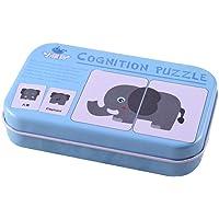 AchidistviQ Montessori Fruit Animals flash Cards cognitive puzzle bambino prima educazione giocattoli
