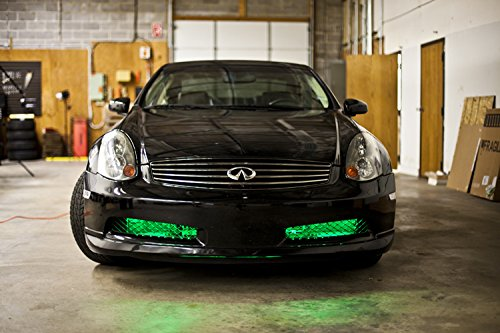 2010-2014 Hyundai Genesis Coupe Single-Color Standard Grille LED Kit, Green